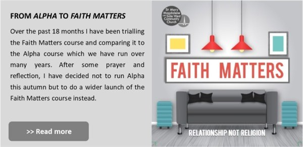 1 From alpha to faith matters
